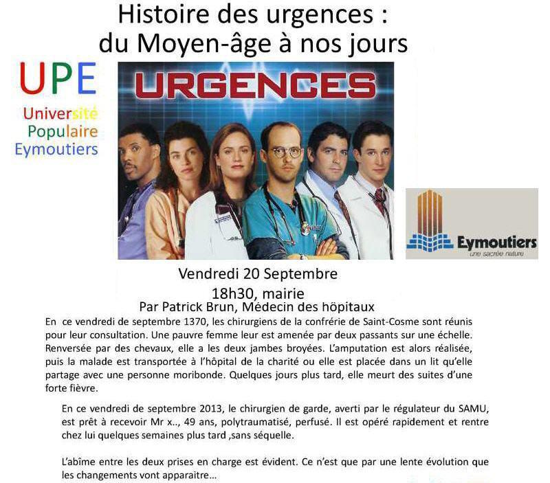 affiche - Urgences