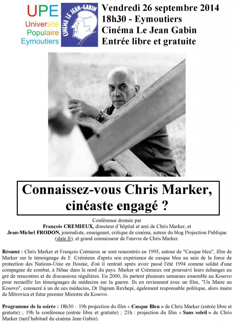 affiche Chris Marker 26 septembre v2